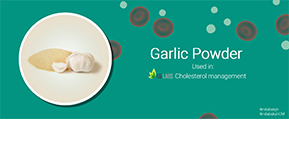 Garlic Lowers Your Blood Cholesterol Levels.